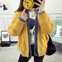 Spring Cardigan Women Korean O Neck Woman S Autumn And Winter Jacket Students Loose Knit Cardigan