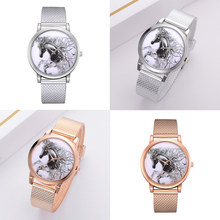 Top Brand Watches Women Fashion Luxury Rose Gold Strap Quartz Sport Watch Horse Silicone Casual Ladies Dress Watches(China)
