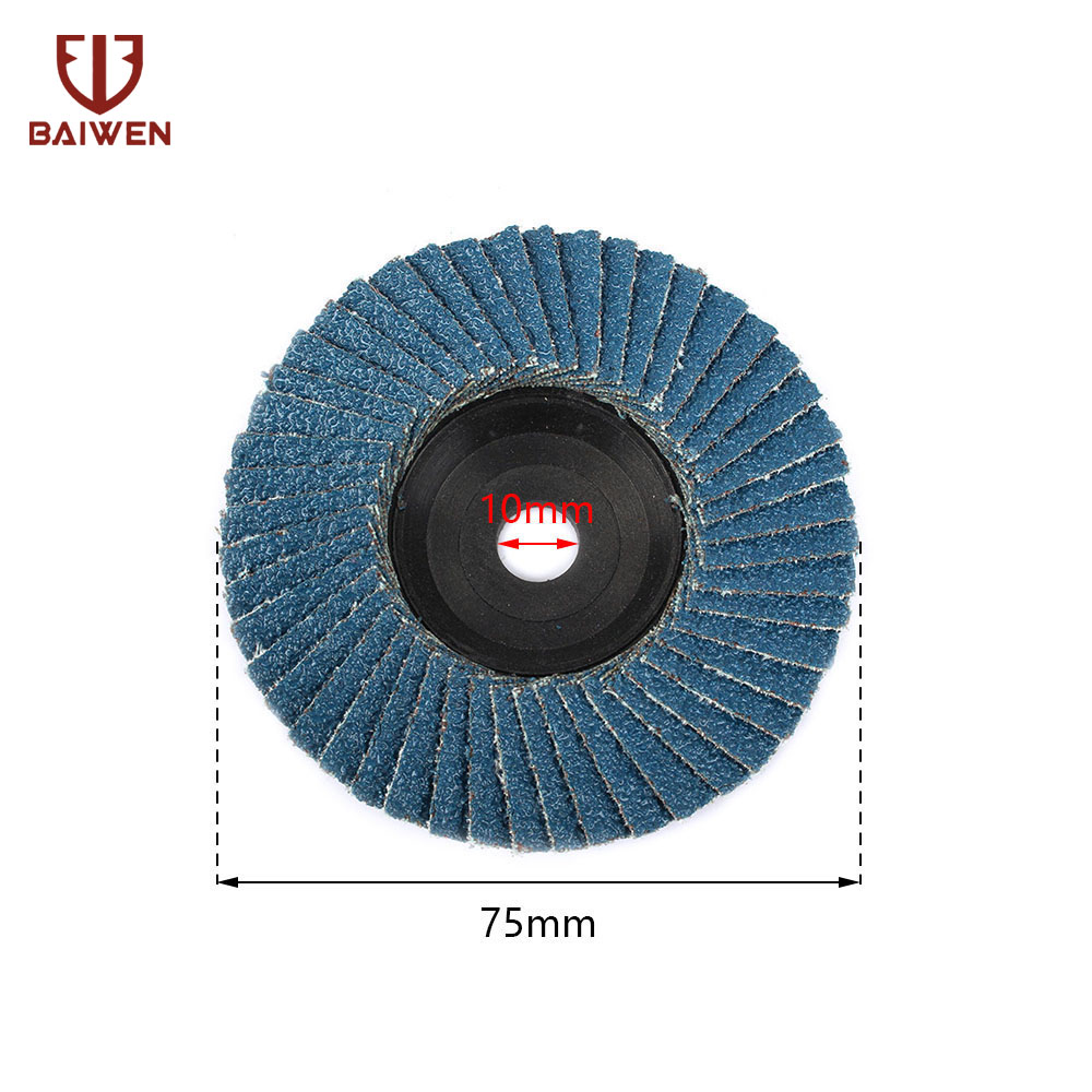 For Metal Wood and Plastic polishing 80 Grit FPPO 2 10PCS Grinding Wheel Flap Discs for 2-inch Mini Air Angle Grinder