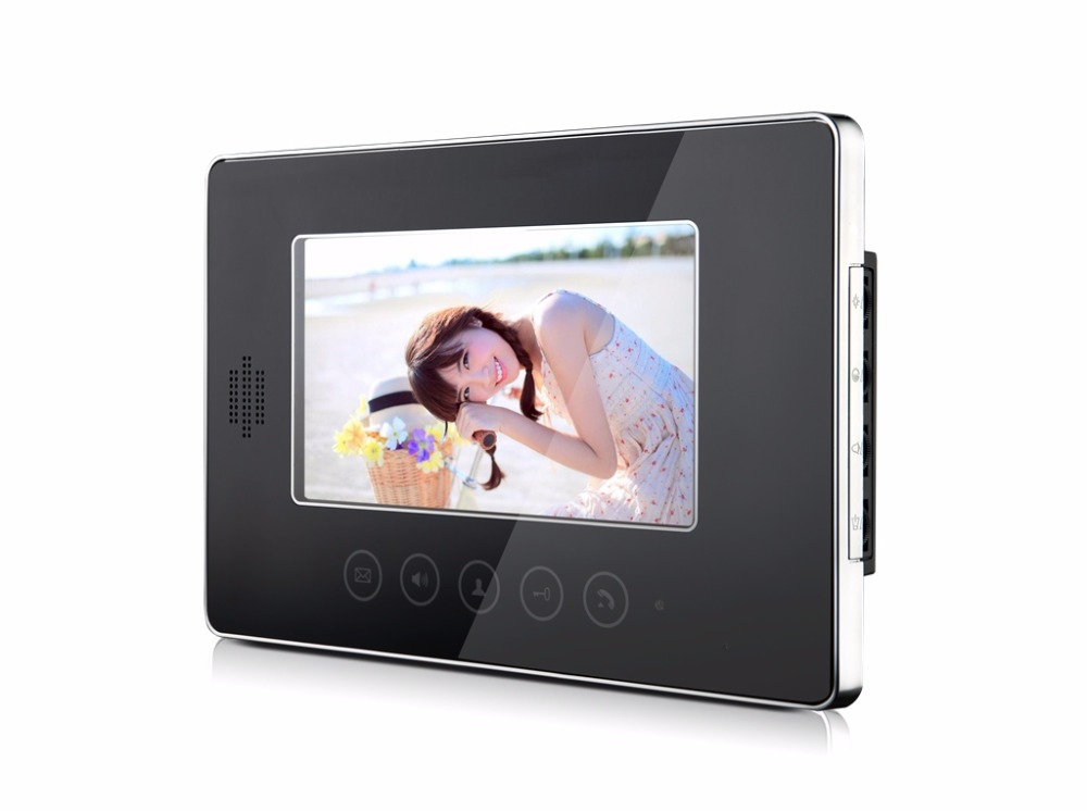 7 inch Touch Screen Monitor For Wired Intercom Video Door Phone XLS-V70T Color Black