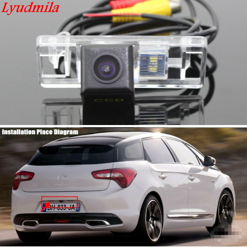 Lyudmila Wireless Camera For Citroen ZX / DS5 DS 5 / Car Rear view Camera / HD Back up Reverse Camera / CCD Night Vision