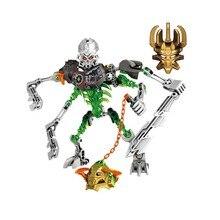 цена на Bionicle Mask Of Light Load Of Skull Slicer Building Block Compatible 70792 Brick Toy