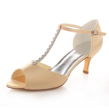 Spring Summer Autumn T-Strap Sandals Mid Heels Pumps Ladies Women's Shoes Evening Banquet  Wedding Party Shoes Stilettos 3780-18