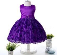 2017 New autumn and winter Flower Girl Dress children dress baby princess dress First Communion Dresses For Girls Ki