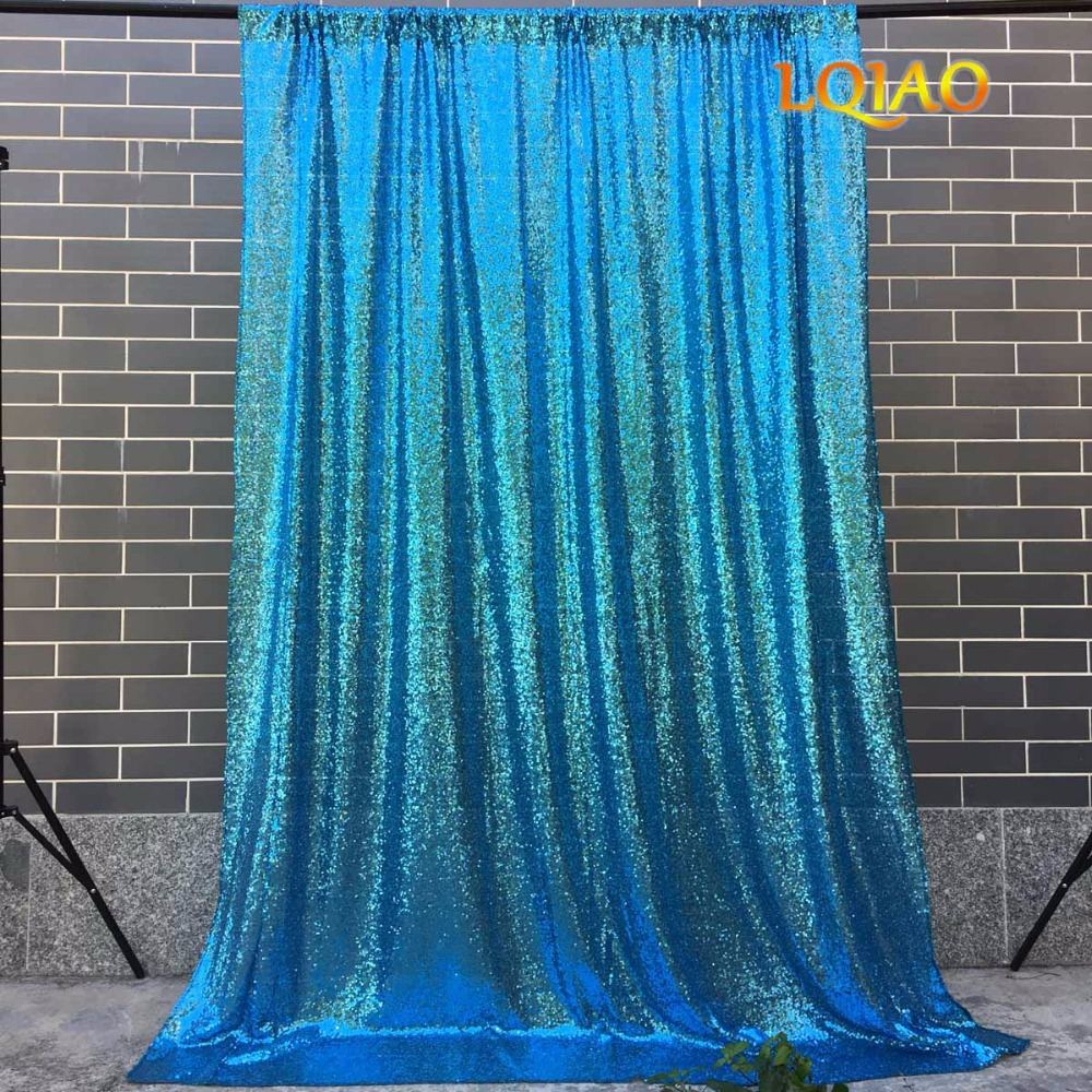 Turquoise Sequin Backdrop-001