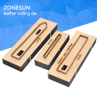 ZONESUN 22 20 Customized leather cutting die Leather DIY Craft supply watchband strap Wooden Template Punching Cutting Mould