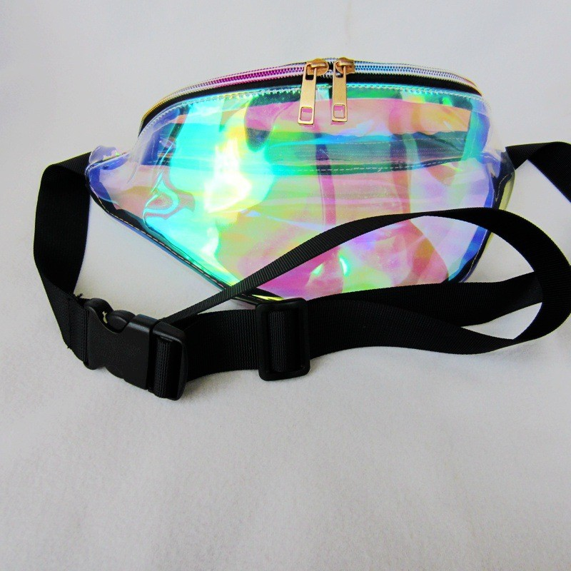 New Arrival Women Crossbody bag Waterproof Chest Bag Cool Transparent Waist Bag Laser Color Fashion HBC89 (4)