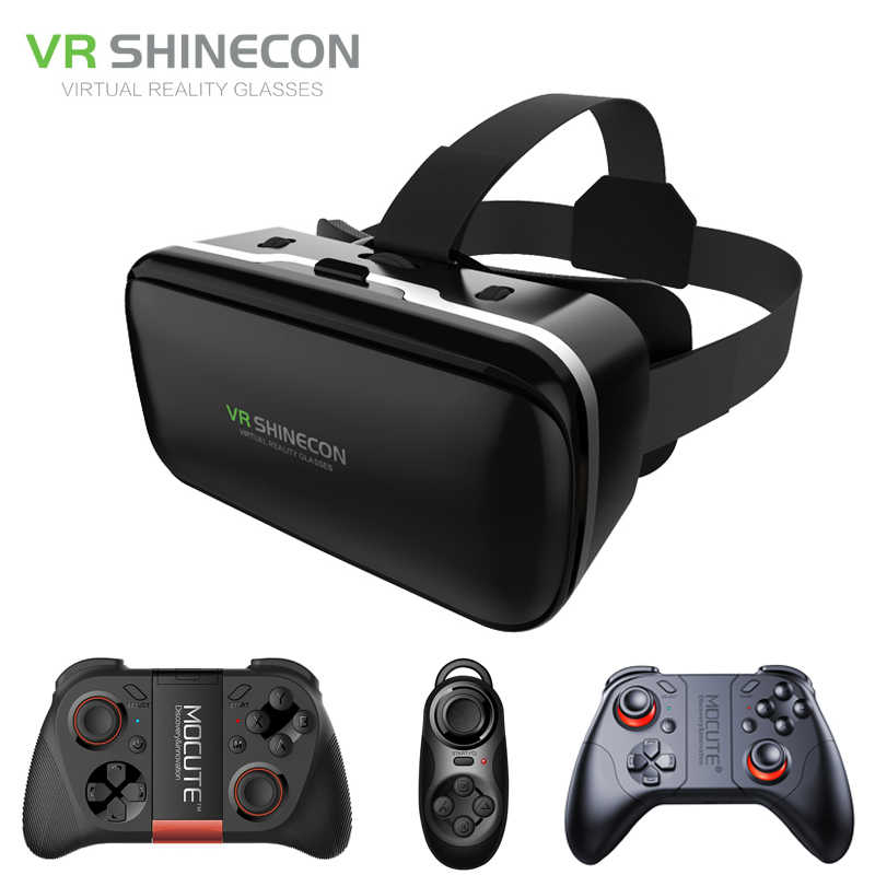 eda2d9fbe542 Shinecon 6.0 VR Virtual Reality 3D Glasses Headset Helmet for 4 6 inch Smartphone  VR Google