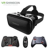 Shinecon 6.0 VR réalité virtuelle 3D lunettes casque casque pour 4 6 pouces Smartphone VR Google carton avec manette de jeu