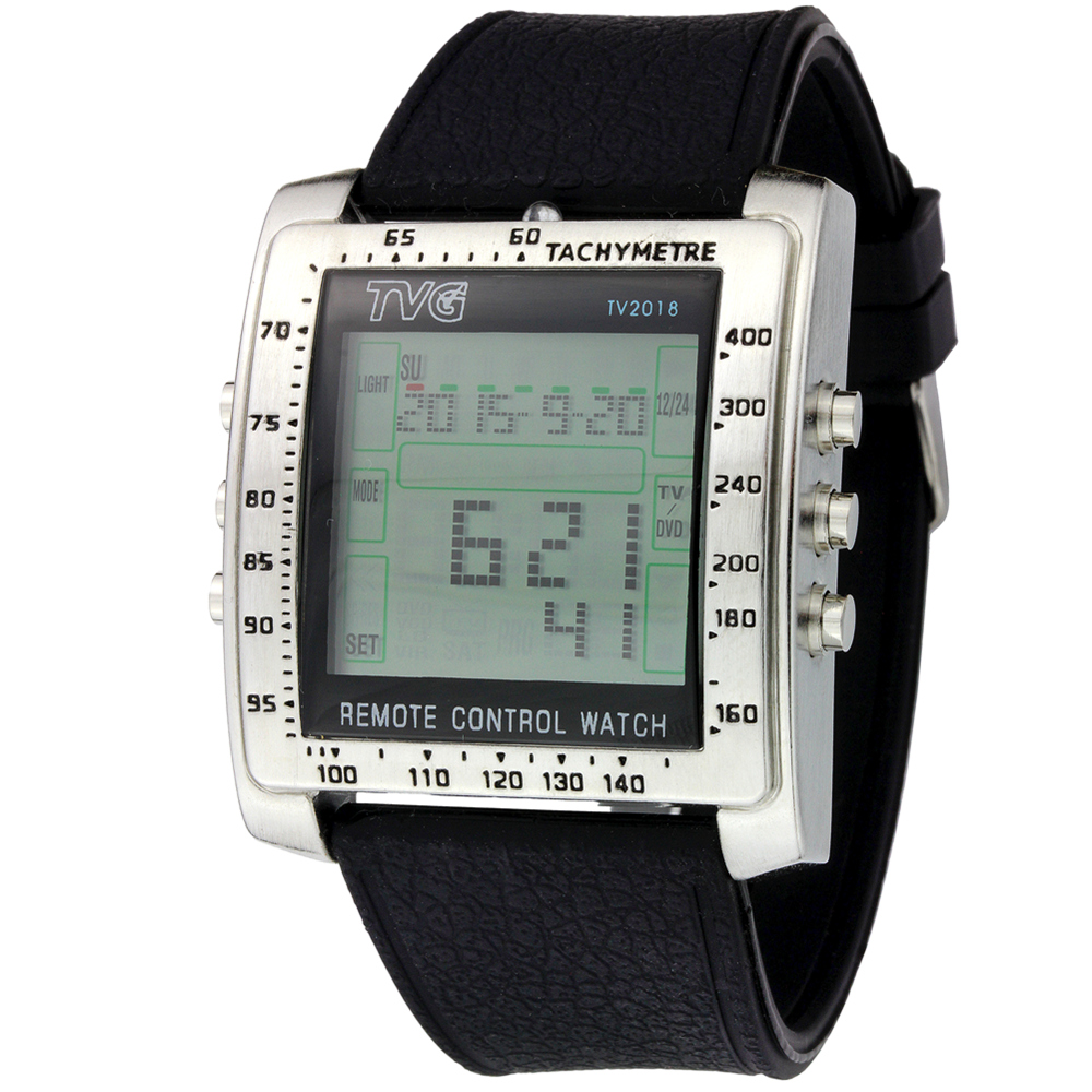 Alarm Wrist-Watch Rubber-Strap Remote-Control TV Multifunctional Steel Sports New And