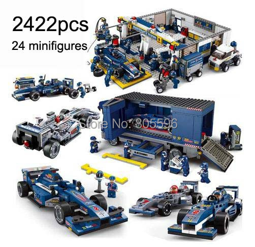 2422 pcs Formula 1 series kit compatible with  Building Block Set Construction Brick Toys Educational Block toy for Children prorab 2422 нк