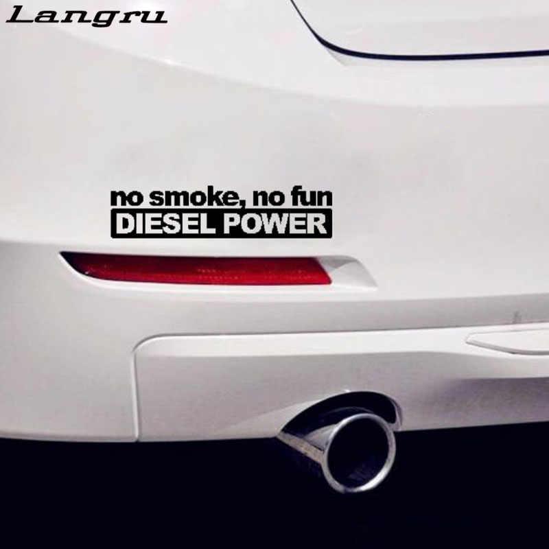 Langru Moda Senza Fumo Nessun Divertimento Diesel Potenza Del Vinile Della Decorazione Autoadesivo Dell'automobile Decalcomanie Grafica Jdm