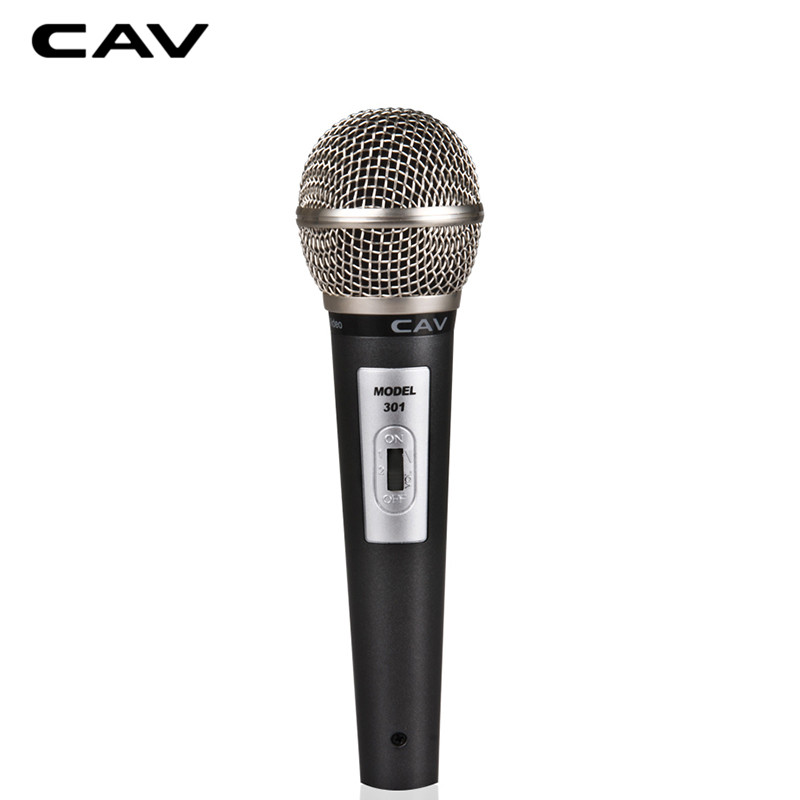 Cav m301ハンドマイクカラokグレー有線無指向性高品質家庭歌うマイク用コンピュータmikrofon -