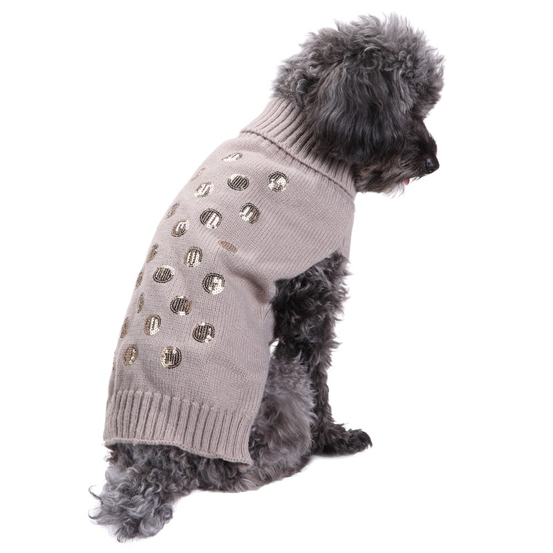 Elegant Scales Embroidered Pet Clothes Autumn and Winter The New Golden retriever Teddy Corgi Dog Sweater Dog Clothing