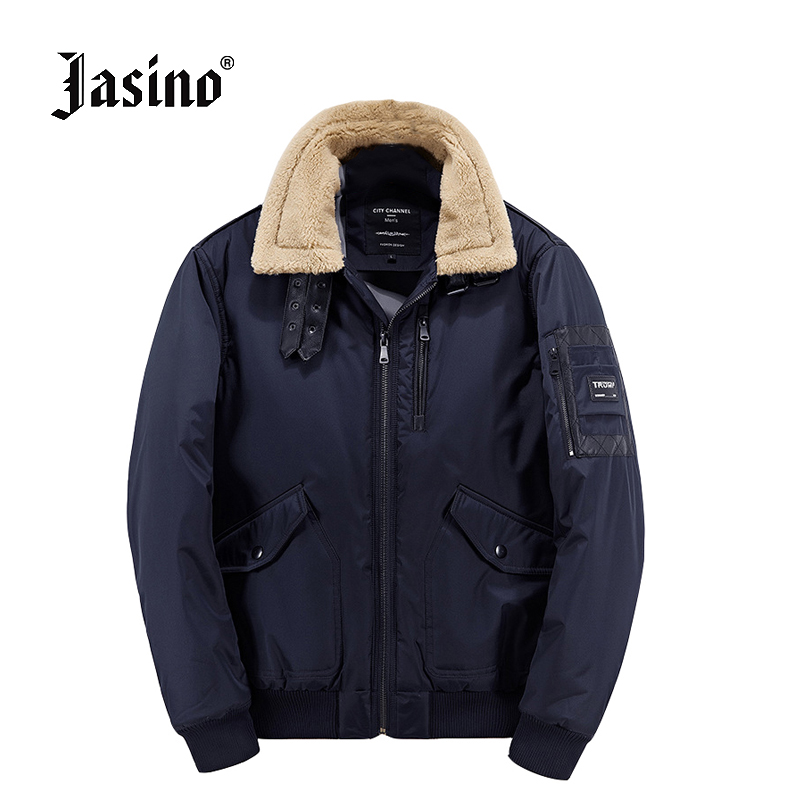 Jasino brand casual men borg fur collar winter warm coats quilted <font><b>jackets</b></font> men parkas <font><b>bomber</b></font> <font><b>jackets</b></font> coats male quilted coat