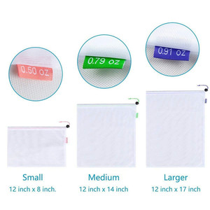Image 2 - 1PC Eco Friendly Reusable Mesh Produce Bags Transparent Washable Grocery Mesh Bags for Storage Fruit Vegetable Toys Sundries