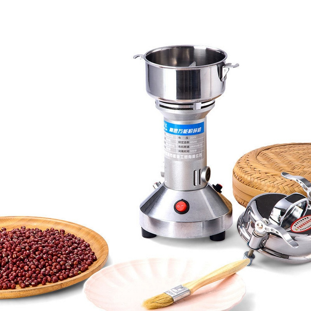 Electric Grains Mill Grinder Spices Herb Cereals Coffee Crusher Dry Food Powder Machine High Speed 220V 650W 150g Portable