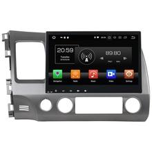 "Android 8.0 octa Core 10.1 ""4 GB RAM 32 GB ROM HD GPS Navi estéreo Bluetooth pantalla táctil del coche radios para Honda Civic 2006-2011"