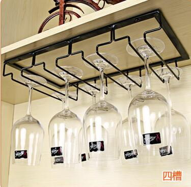 Metal Iron Wine Glass Holder Rack Wall Mounted Hanger Wine Glass