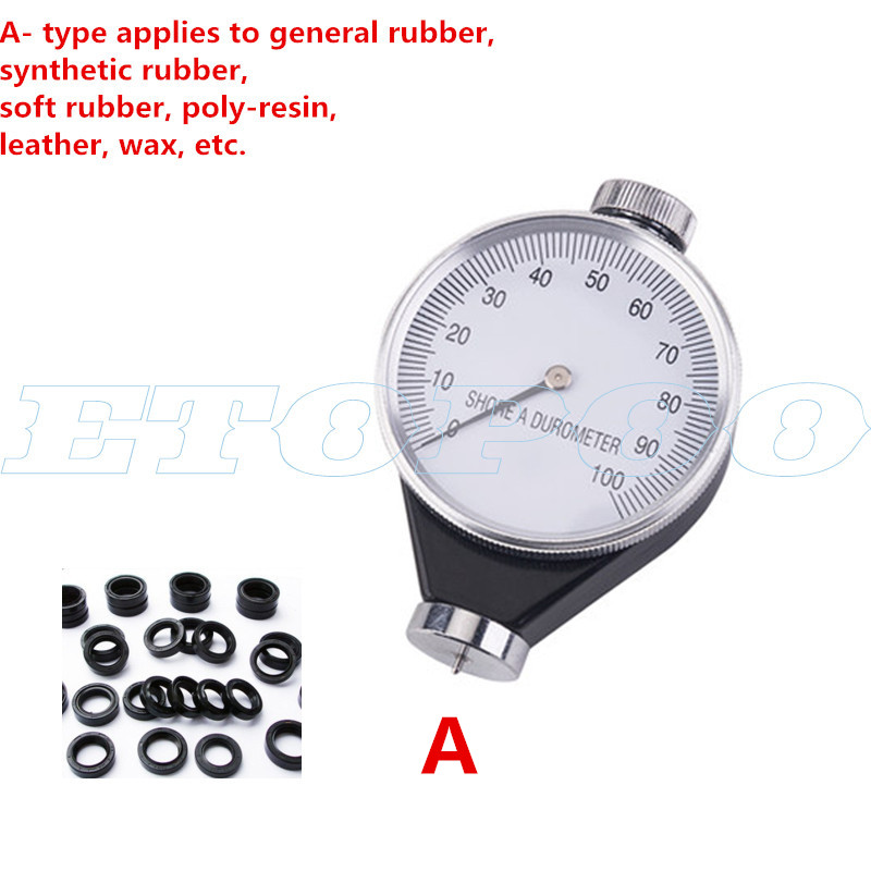 O Rubber Hardness Tester,Shore Type A//O//D Rubber Tire Durometer Hardness Tester Meter 0-100 HA