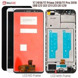 Wyświetlacz dla Huawei Y7 2018 wyświetlacz LCD ekran dotykowy dla Huawei Y7 Pro 2018 wyświetlacz Y7 Prime 2018 ekran LDN L01  LX3  L21  LX2  TL10 w Ekrany LCD do tel. komórkowych od Telefony komórkowe i telekomunikacja na