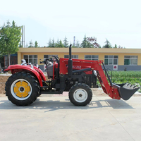35HP Tractor Four Wheel 4*4 With Front Forklift Multi Purpose Agricultural Machinery