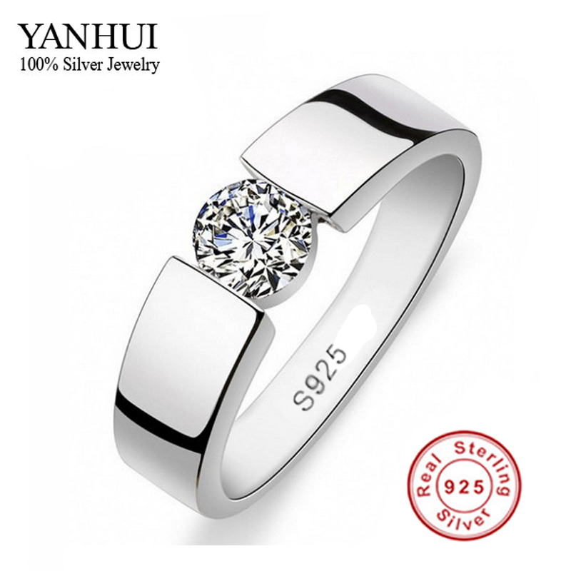 mens 100 925 sterling silver ring set 1 carat sona cz diamant engagement ring ring size 6 11 yrd10 - Cheap Wedding Rings Sets