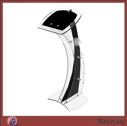 Elegant Curve With The Blackboard Acrylic Podium