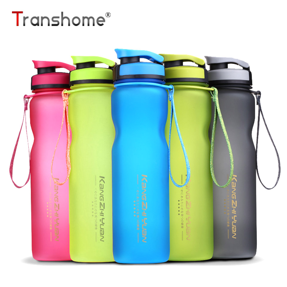 Transhome Plastic Water Bottle 1000ML 600ML High Quality Outdoor Bicycle Sport Bottle For Water Leak proof Portable Drinkfles