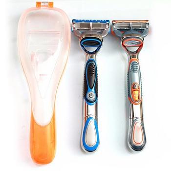 1 PC Portable Blue Travel Portable Men's Razor Blades Holder Box Shaver Holder Box Case High Quality Female Shaving Machine