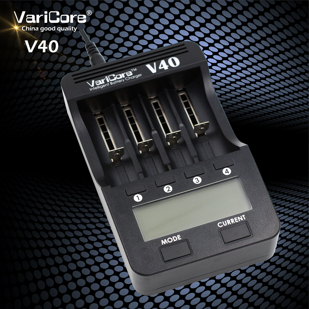 New VariCore V40 LCD Battery Charger for 3 7V 18650 26650 18500 16340 14500 18350 lithium