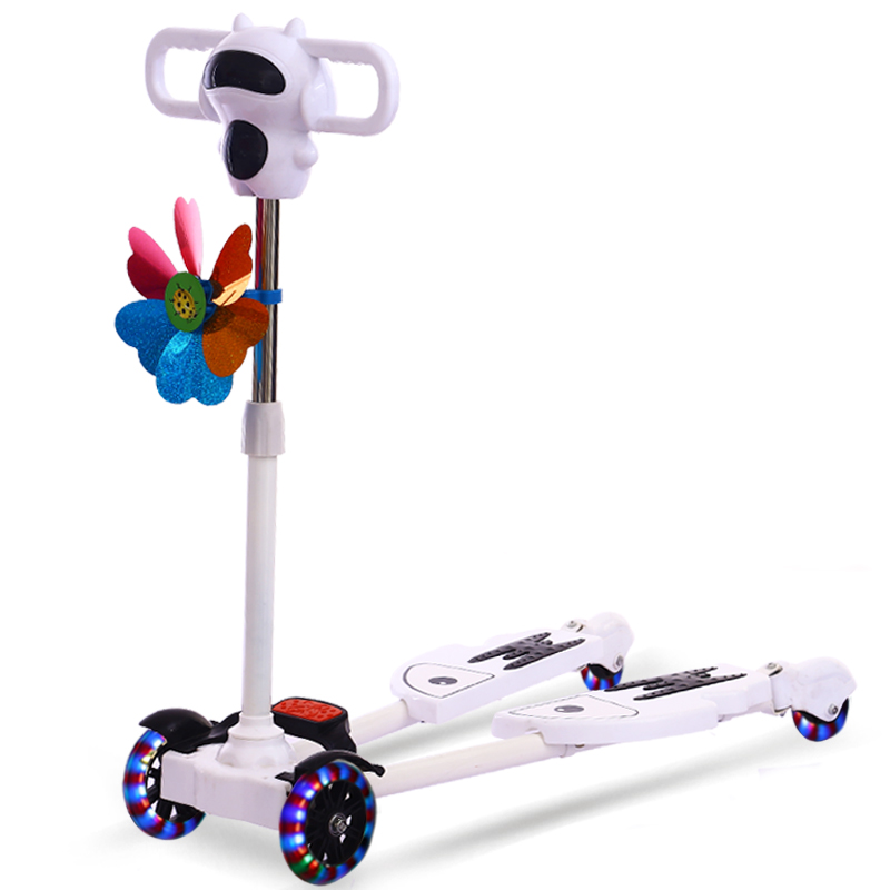 Bicicleta Scooter Flash 4 Wheel Children Outdoor Toys Kid Bike Car Slide Ride On Toy With Led Light Flash Music Adjustable High child drift trike 4 wheels walker kids ride on toys for 1 3 years tricycle outdoor driver