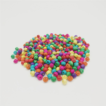 300pcs/lot Loose Colorful Wood Beads For Jewelry Making DIY 6x7mm Flying Saucer Wooden Bracelet Necklace Accessories