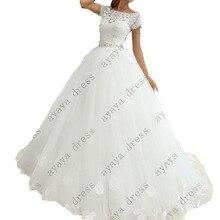 wejanedress Customized white lace wedding dress 2017 robe de mariage 2017 robe de mariage dentelle Tank bridal dresses
