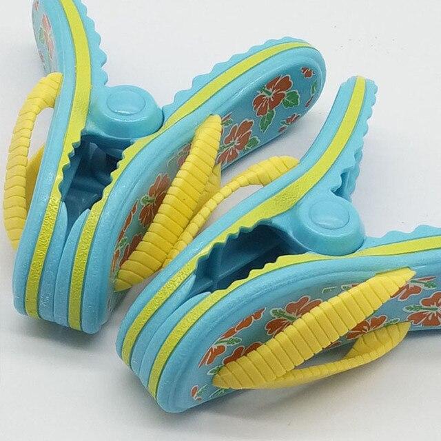 1 pcs Plástico Clips Toalha De Praia Chinelo Grande Espreguiçadeira Espreguiçadeira Piscina Titular Peg de Roupa Colcha clipe clipes de Meias Simulação sapatos
