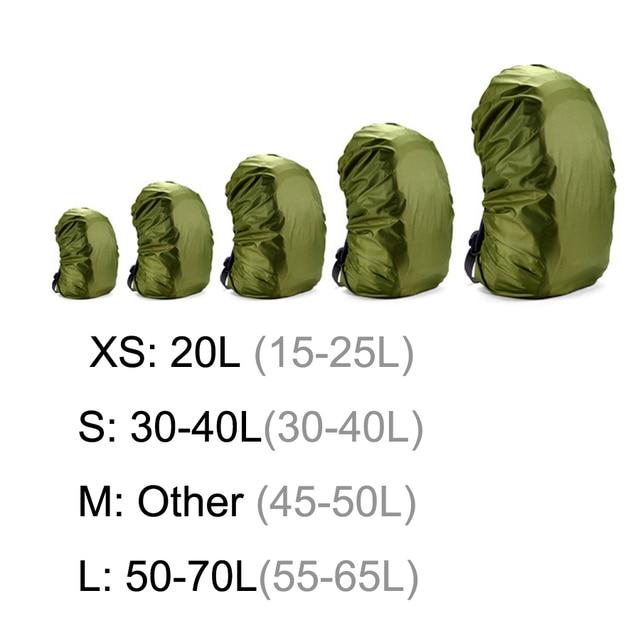 AiiaBestProducts Rain cover backpack 20L 30L 35L 40L 50L 60L Waterproof 5