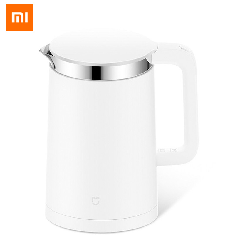 Original Xiaomi Mijia Smart Thermostatic Electric Water Kettles 1.5L 12 Hour Thermostat Support Control dengan Smart Mi Home APP