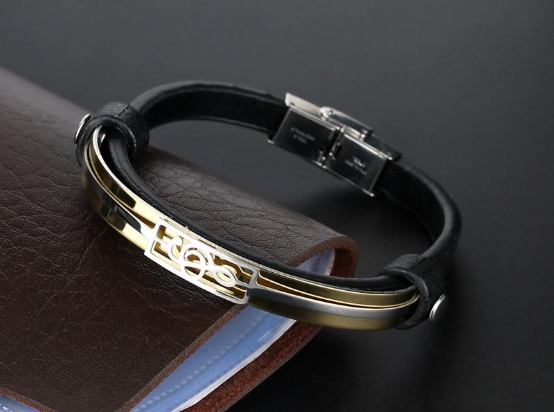 liujun Treble Clef Stainless Steel Musical Bracelet 1