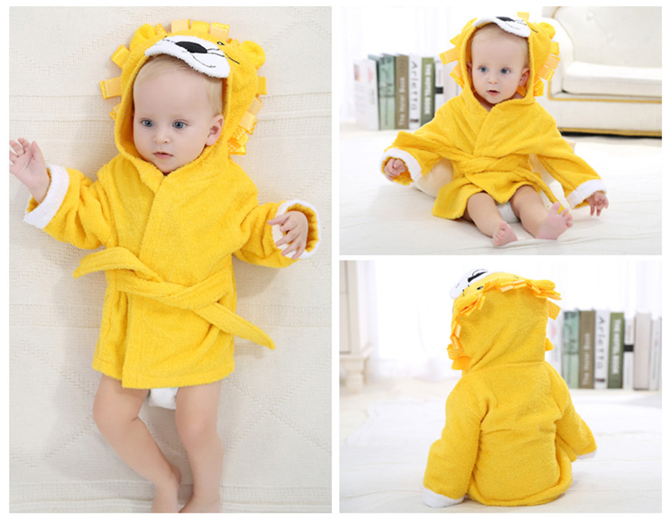 Baby Bath Towel Summer Bathrobe With Cape Cotton Newborn Baby Towel Cute Animal Styling Hooded Cloak Cloth Bath Towel 0-1Year