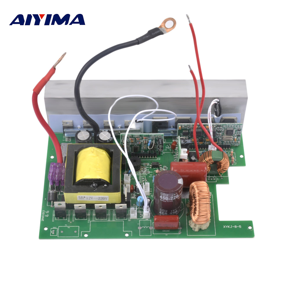 Aiyima 1Pc Pure Sine Wave Inverter Solar Boost Converter 12V To 220V 800W Power Frequency Inverter Drives Main Board Plate Suite