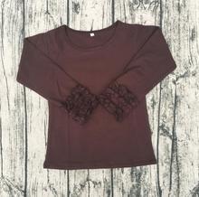 Icing Cute Long Sleeve Ruffle Top Girl Shirt Summer Designer Western Casual Tops Shirt Baby Girl Clothes