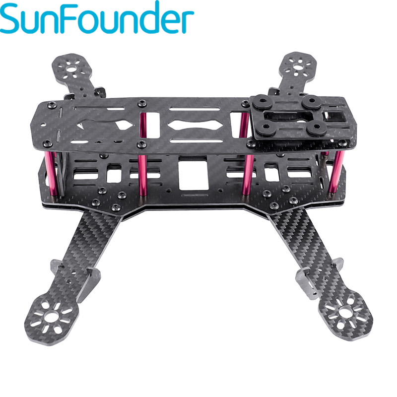 SunFounder 250mm Full Carbon Fiber FPV Mini Race Quadcopter Drone Frame Kit forF3 NAZE32 Openpilot CleanFlight BetaFlight QAV250 2types 250mm quadcopter fpv aircraft drone frame kit rc accessory for qav250 rc drone helicopter carbon fiber frame kit