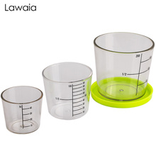 Lawaia Fishing Bait Three-piece Measuring Cup Set With Scale High Transparent Drop-proof Pressure-proof Wear Fish Tools