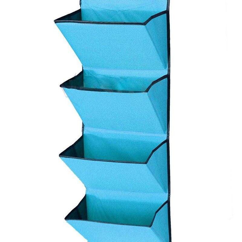 4 уровня стена двери висит Организатор сумка для хранения шкаф ткань wardobe для обуви синий
