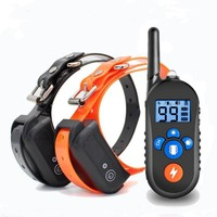Original Electric Dog Training Collar Waterproof Rechargeable Dog Collar With Remote Control 2 Receiver Pet Training Collar