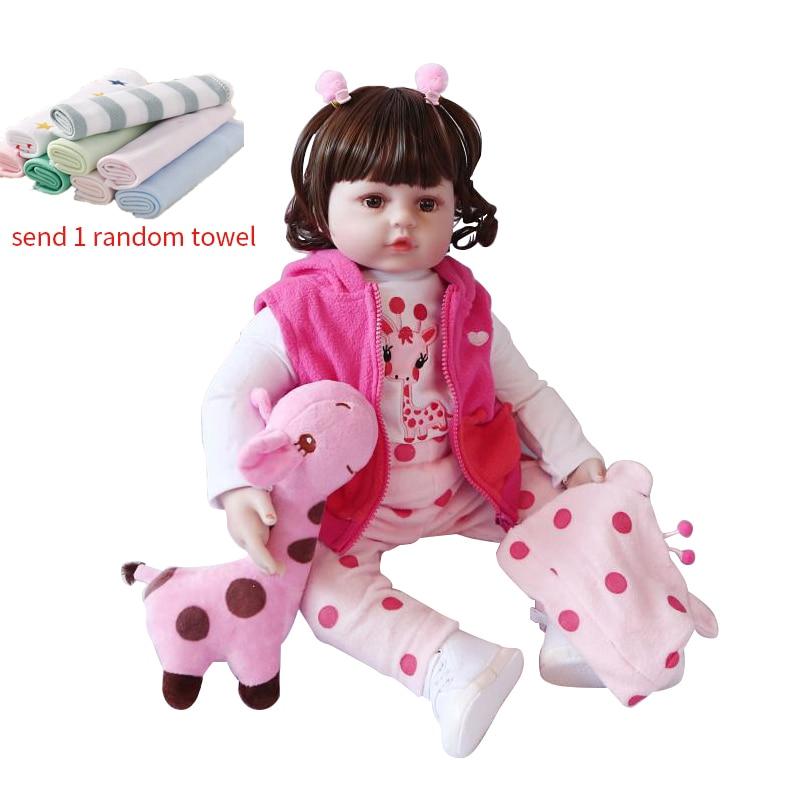 NPK 45cm/60cm Doll Toy Reborn Baby Dolls Silicone Dolls Simulation Lifelike Baby Toddler Dolls For Girls Toys For KidsNPK 45cm/60cm Doll Toy Reborn Baby Dolls Silicone Dolls Simulation Lifelike Baby Toddler Dolls For Girls Toys For Kids