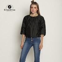 Теплые зимние короткие стеганая куртка известного бренда Для женщин пальто с застежкой молнией