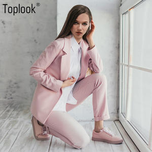 Toplook Striped Women Two Pieces sets 2018 Suits Long Pants
