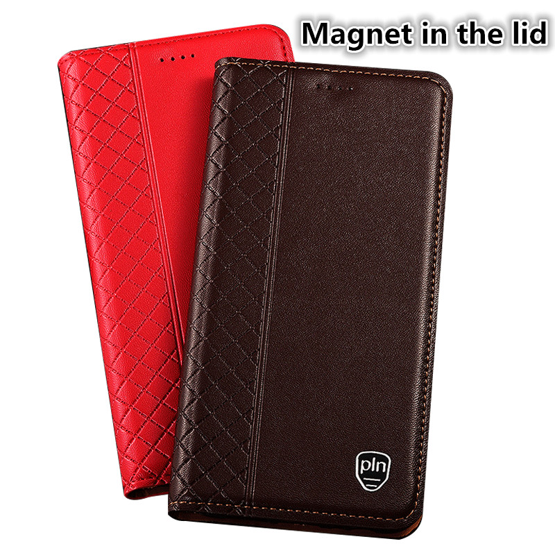LS14 Genuine Leather flip case with card holder for font b OnePlus b font font b