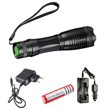 CREE XML T6 Led flashlight  Zoomable 5 Mode Torch Focus Tactical Lamp Waterproof lanterna led With rechargeable18650 battery